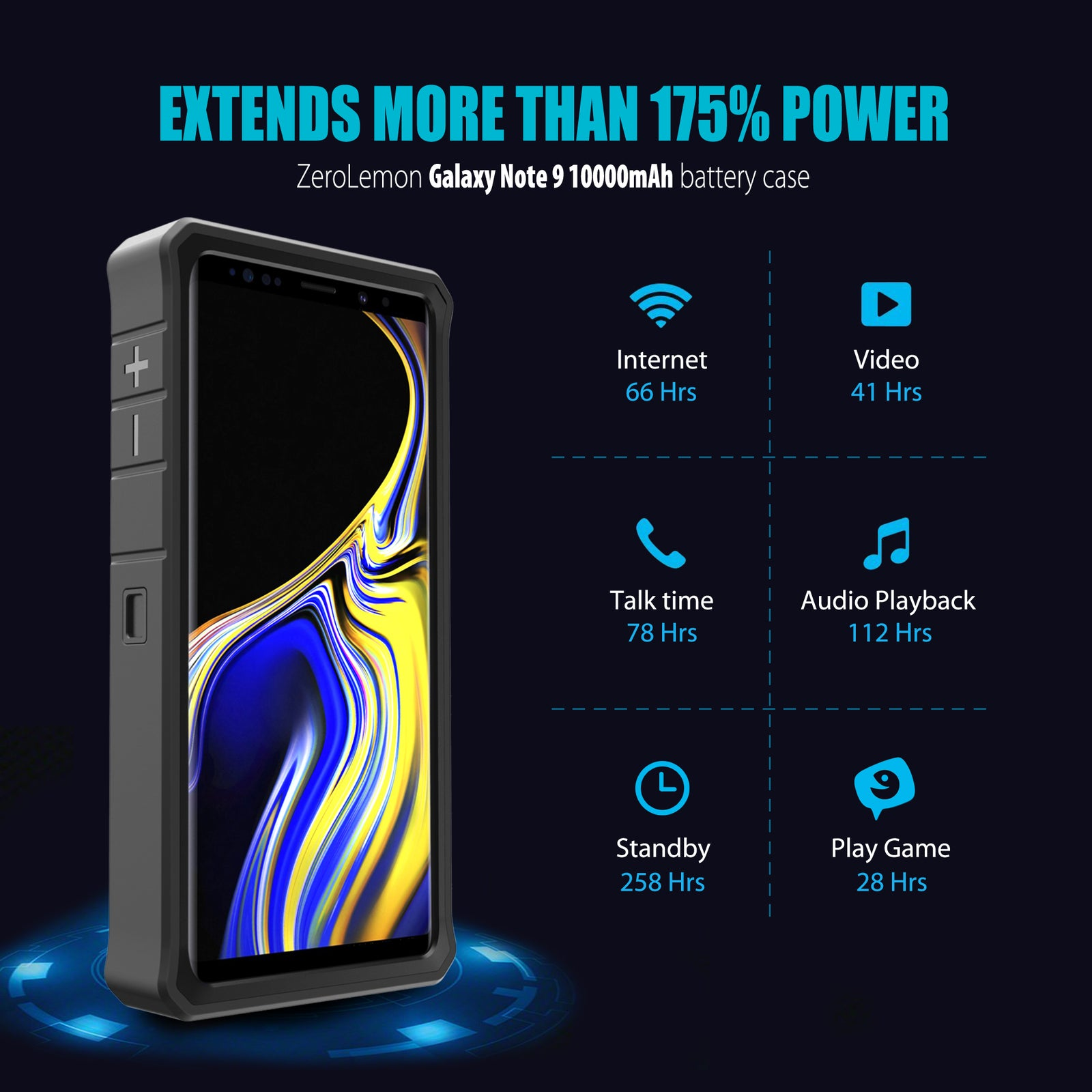 Galaxy Note 9 Battery Case 10000mAh