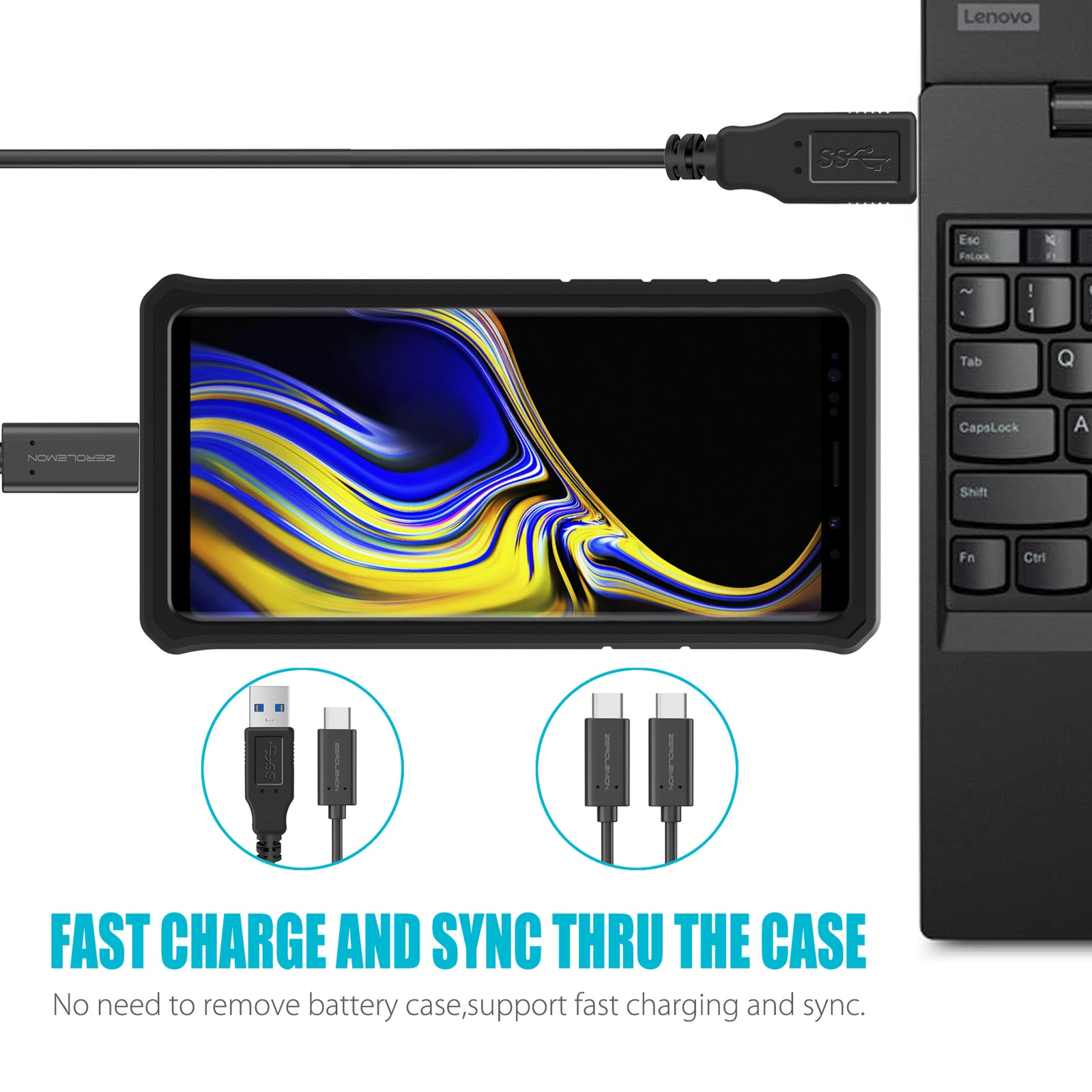 Galaxy Note 9 ZeroShock Battery Case 10000mAh