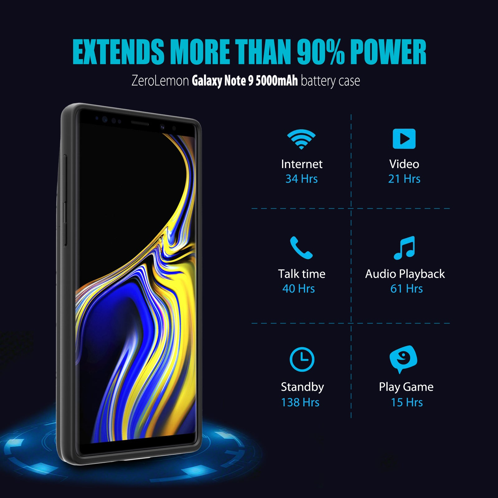 Galaxy Note 9 Battery Case 5000mAh-Upgraded [Shipping to US Only]
