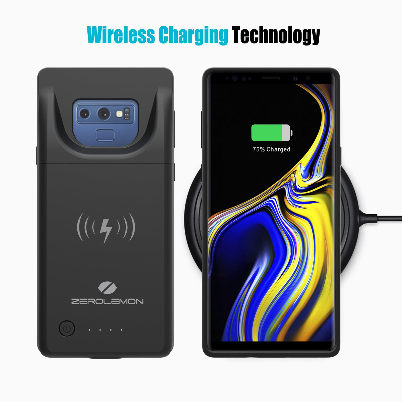 Galaxy Note 9 5000mAh Wireless Charging Battery Case
