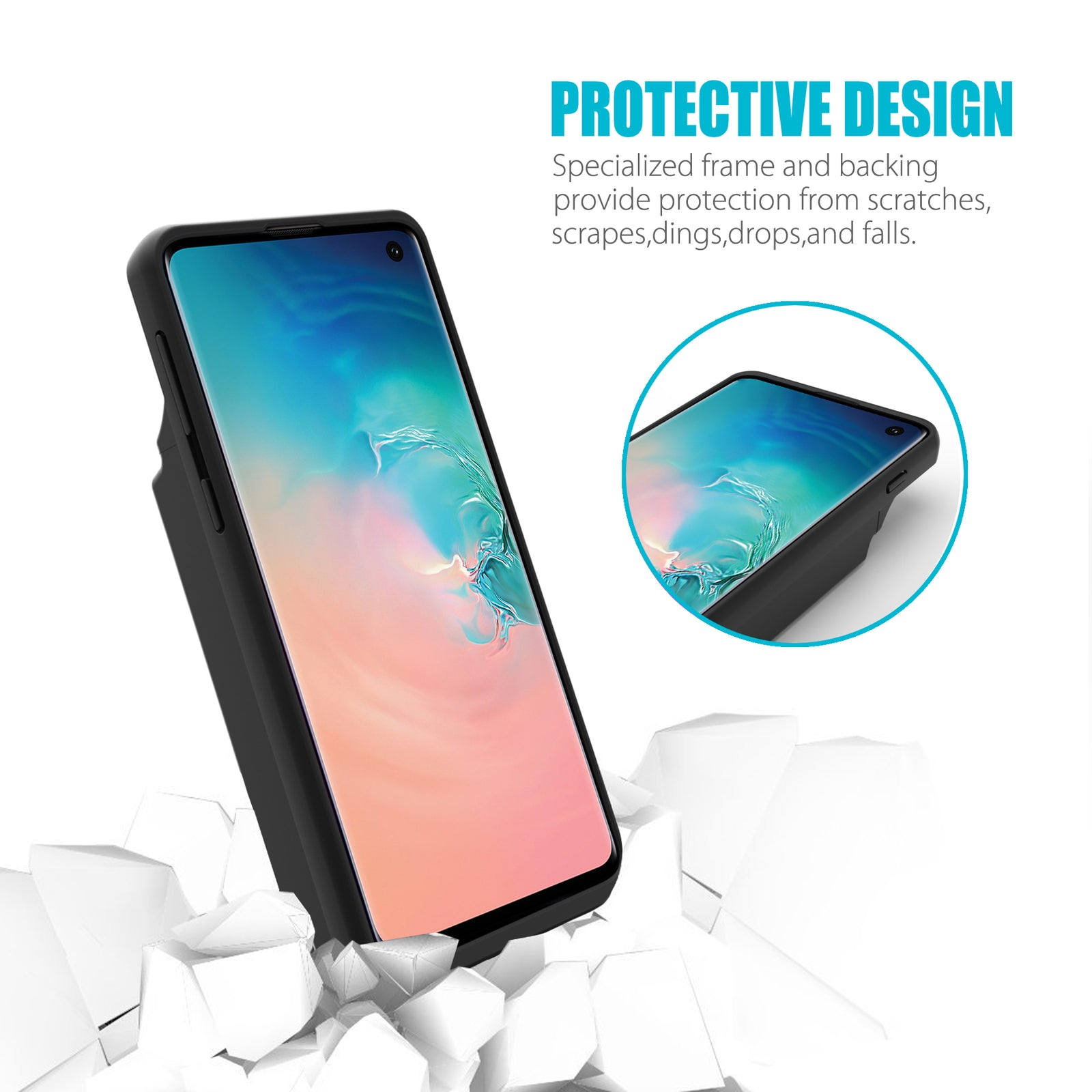 Galaxy S10 8000mAh Extended Battery Case