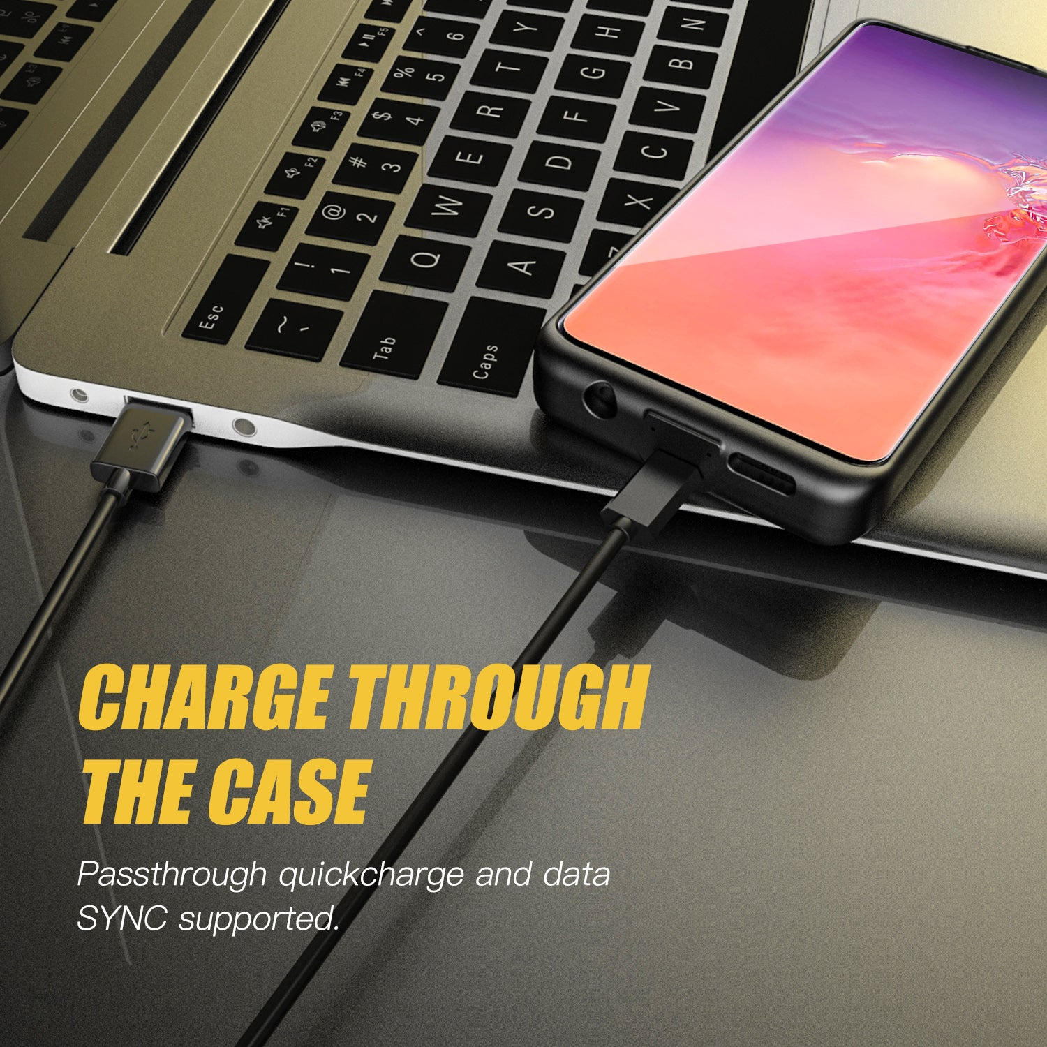 Galaxy S10 Plus 5000mAh Extended Battery Case