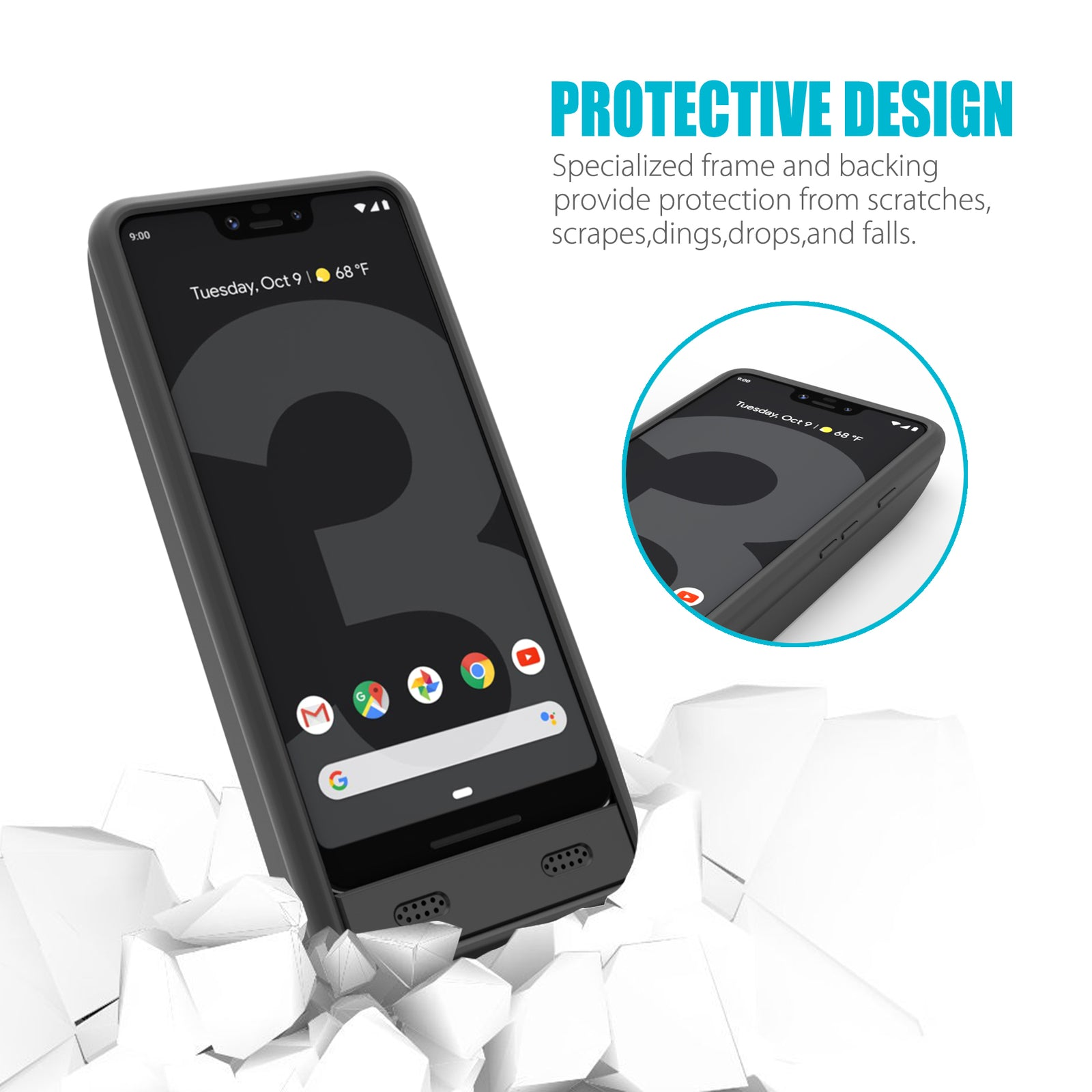 Google Pixel 3 XL 8500mAh Extended Battery Case [Shipping to US Only]