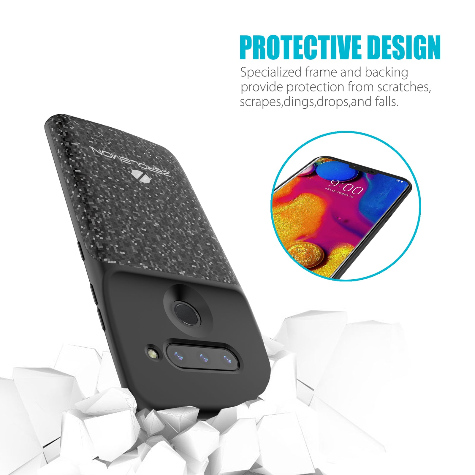 LG V40 ThinQ 5200mAh Battery Case [Shipping to US Only]