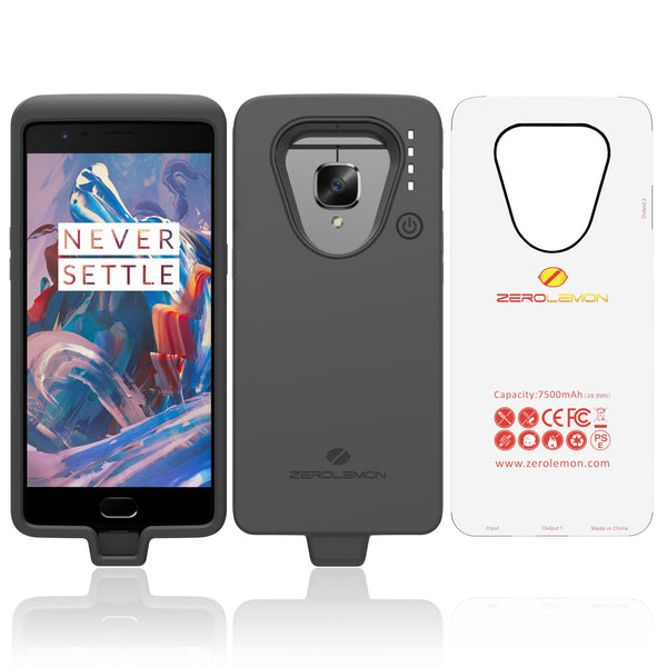 on sale 632a1 30aed OnePlus 3/3T Battery Case 7500mAh