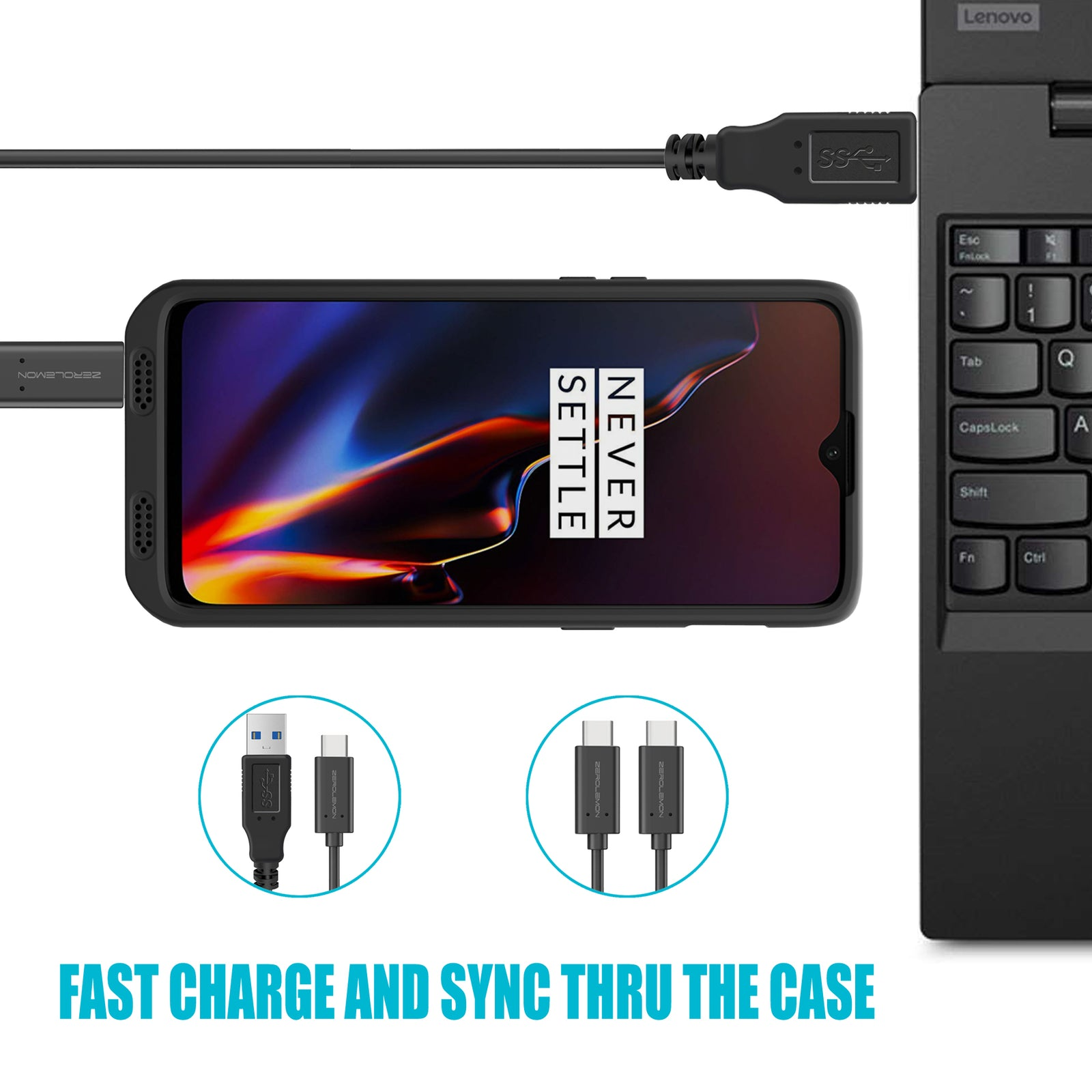 OnePlus 6T 7500mAh Battery Case