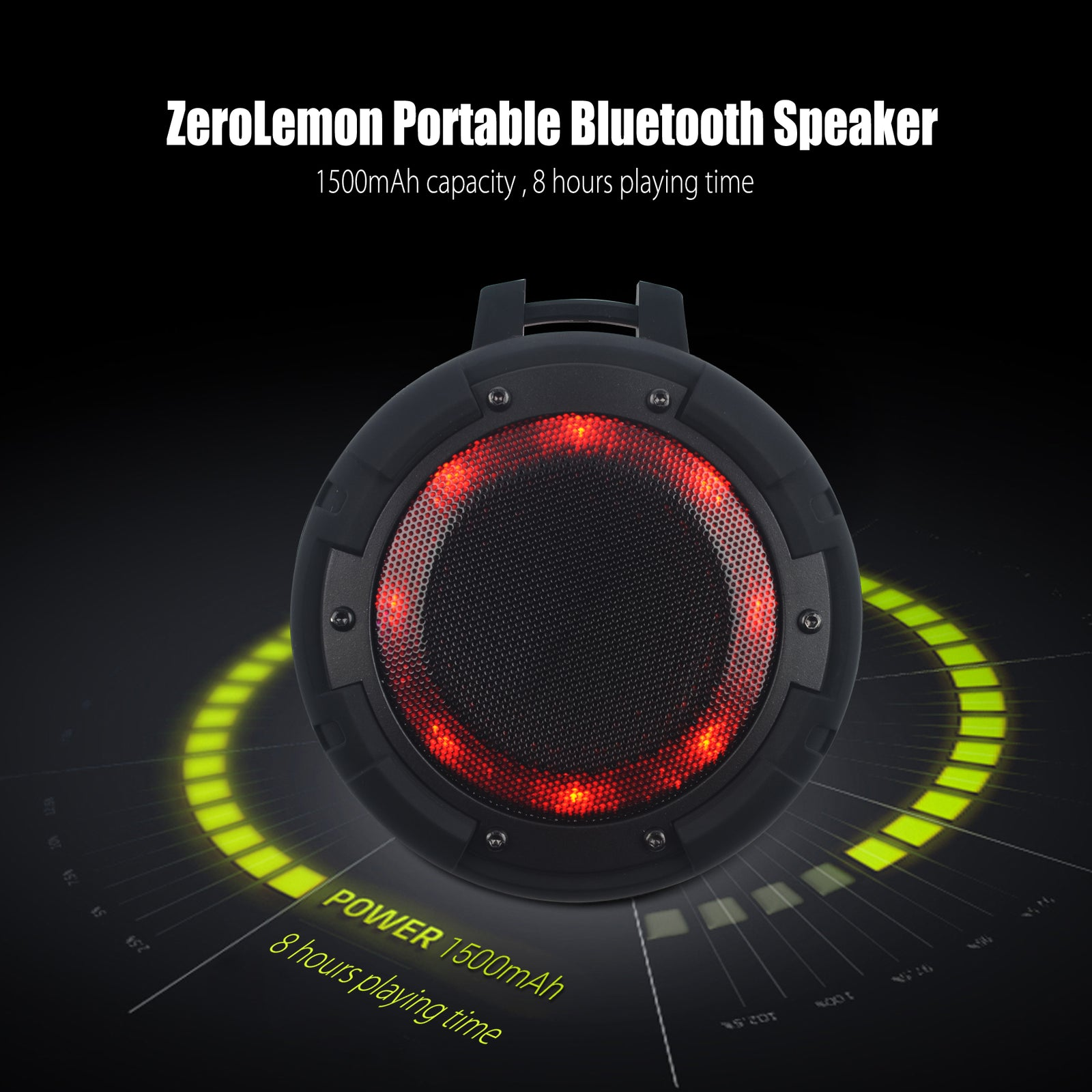 ToughSound  IPX8 Portable Wireless Bluetooth Speaker [Shipping to US Only]