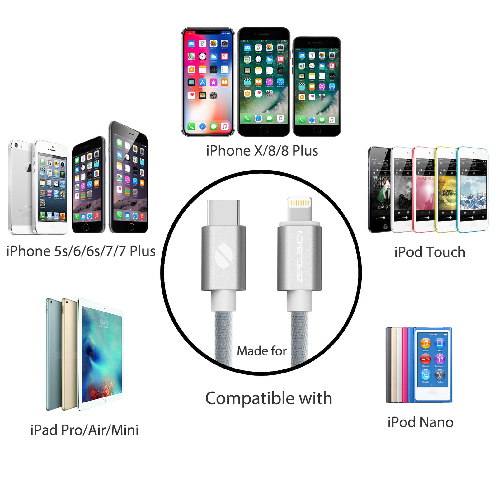 USB C PD to Lightning Fast Charging Cable [Shipping to US Only]