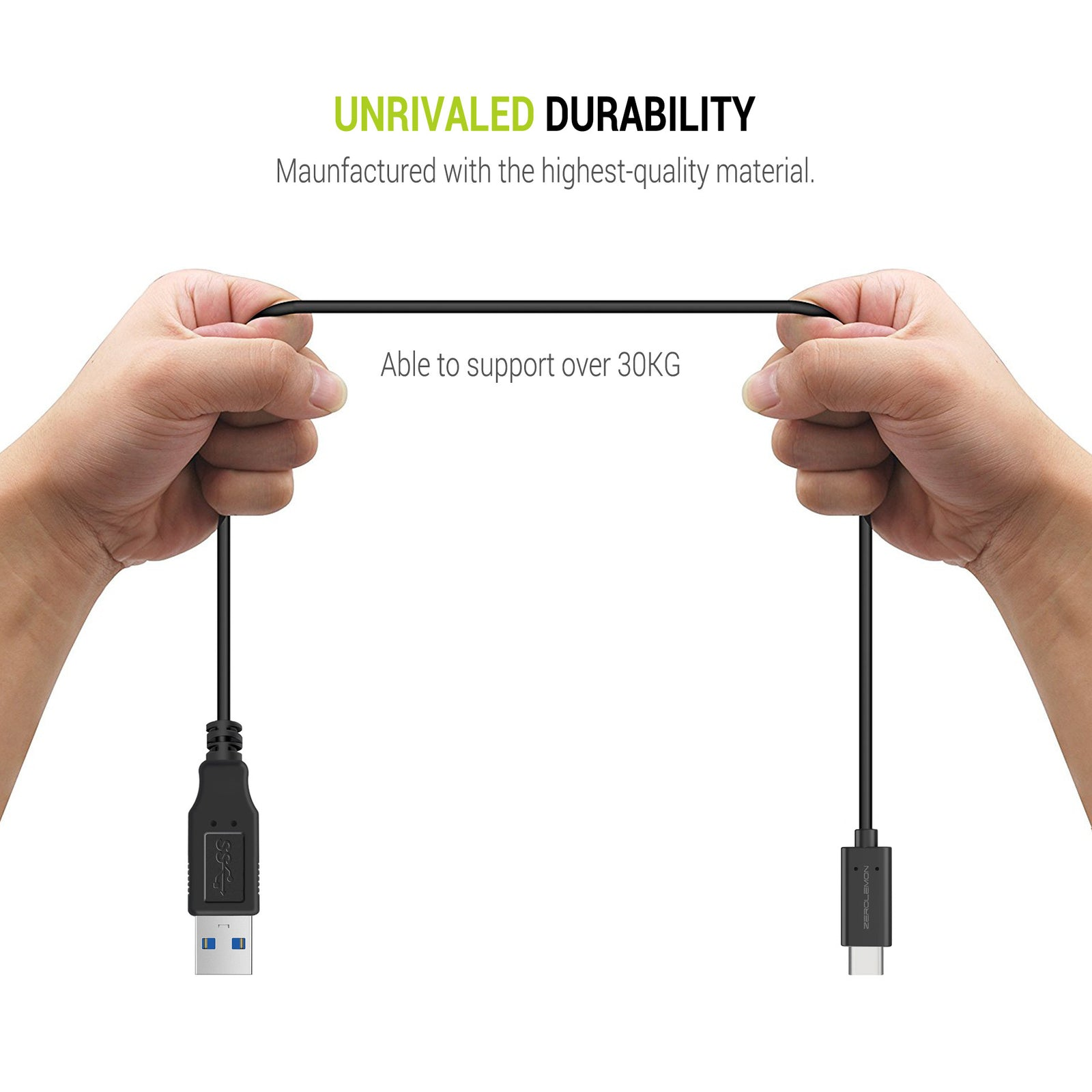 Type C(USB-C) to Type A(USB-A) 3.2ft Charge and Sync Cable [Shipping to US Only]