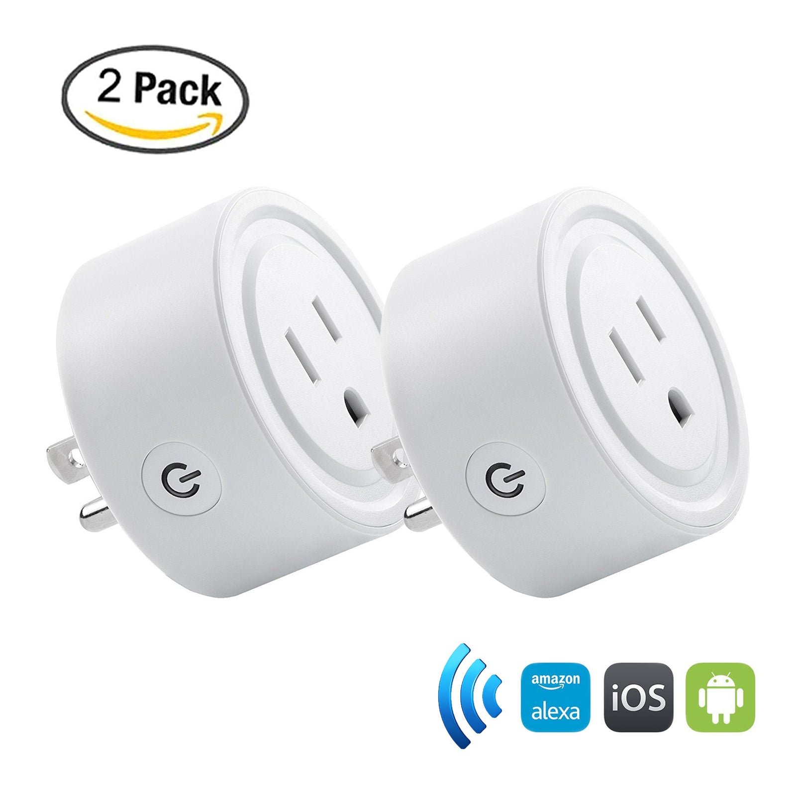 WiFi Smart Mini Plug White – 2 Pack [Shipping to US Only]