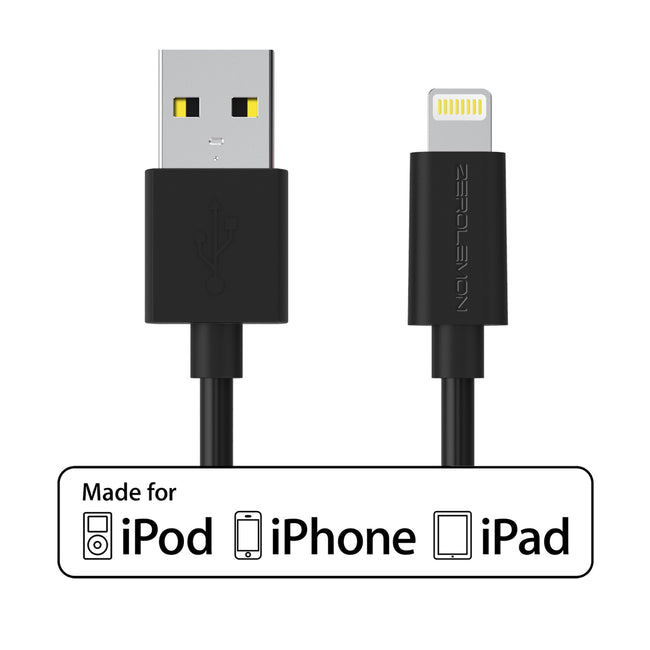 iPhone Charging Cable 10ft/3m [10-Pack]  - PVC Black
