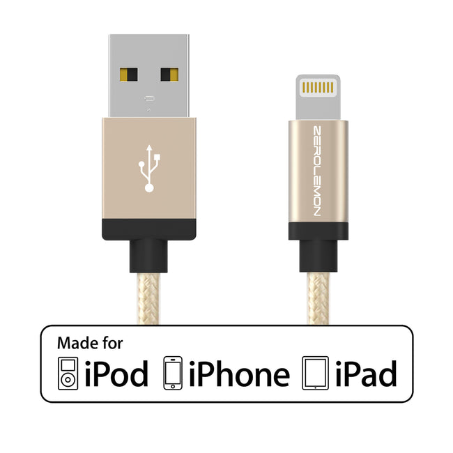 Lightning Cable 3.2ft/1m- Rugged Nylon Various Colors [Shipping to US Only]