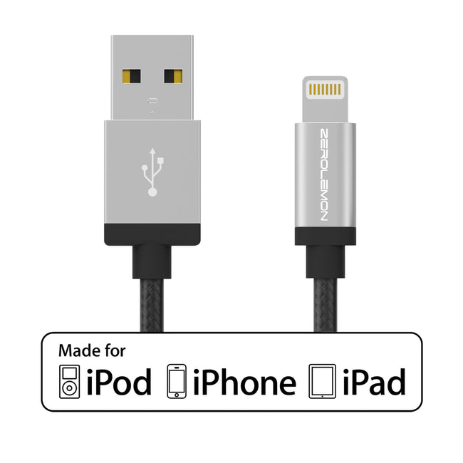 Lightning Cable 6.4ft/2m - Rugged Nylon Various Color [Shipping to US Only]