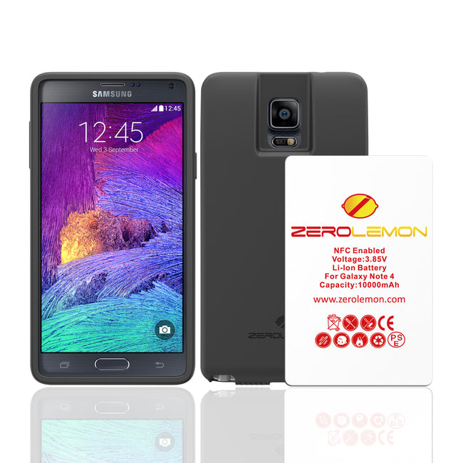 Galaxy Note 4 10000mAh Tricell Extended Battery + Protection Case