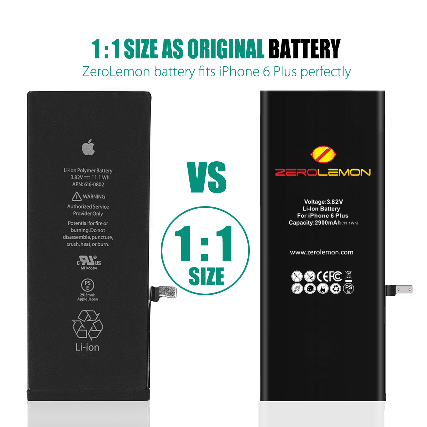 iPhone 6 Plus Internal Li-ion battery 2900mAh [Shipping to US Only]