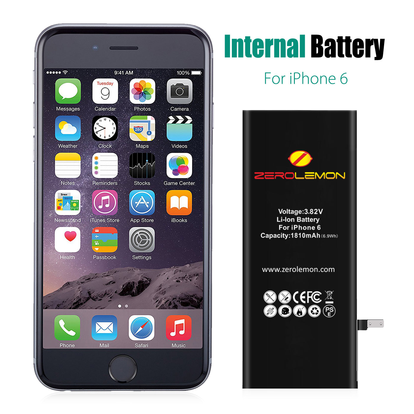 iPhone 6 Internal Li-ion Battery 1810mAh  [Shipping to US Only]