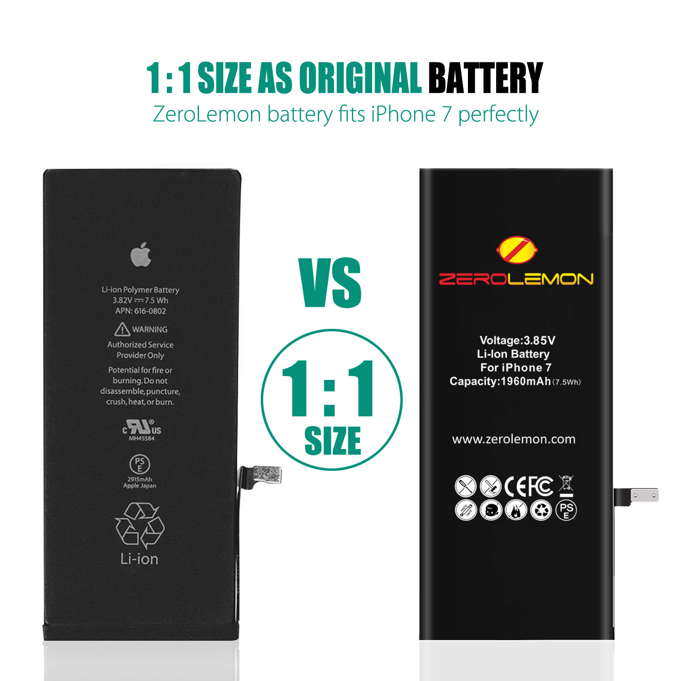 iPhone 7 Internal Li-ion battery 1960mAh [Shipping to US Only]