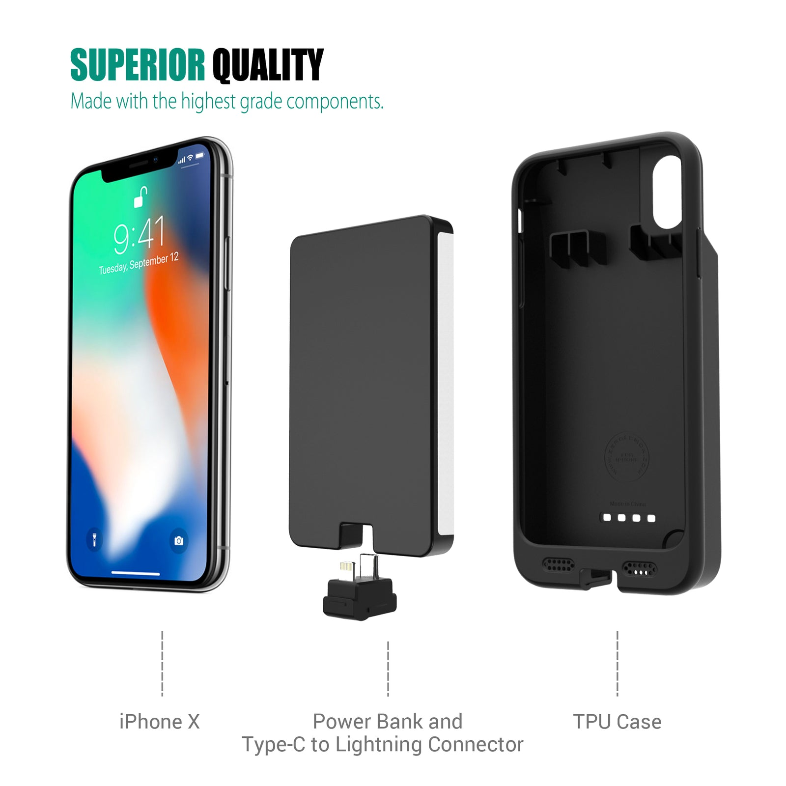 iPhone X / XS 8000mAh Battery Case [Shipping to Australia Only]