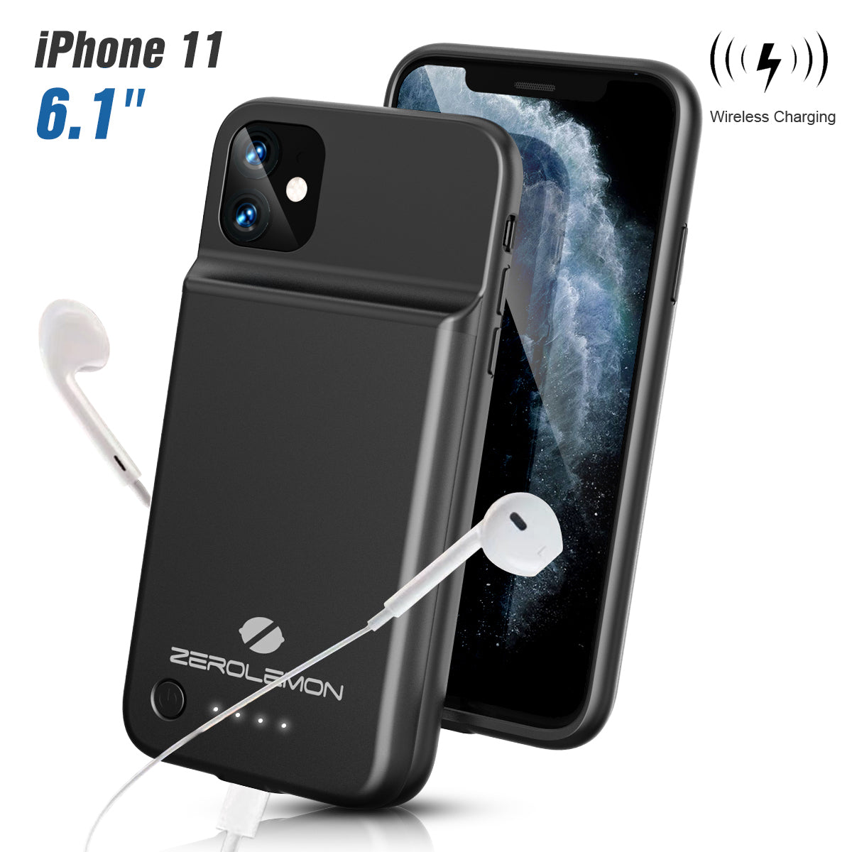 SlimJuicer iPhone 11 4500mAh Wireless Charging Battery Case [Shipping to US Only]