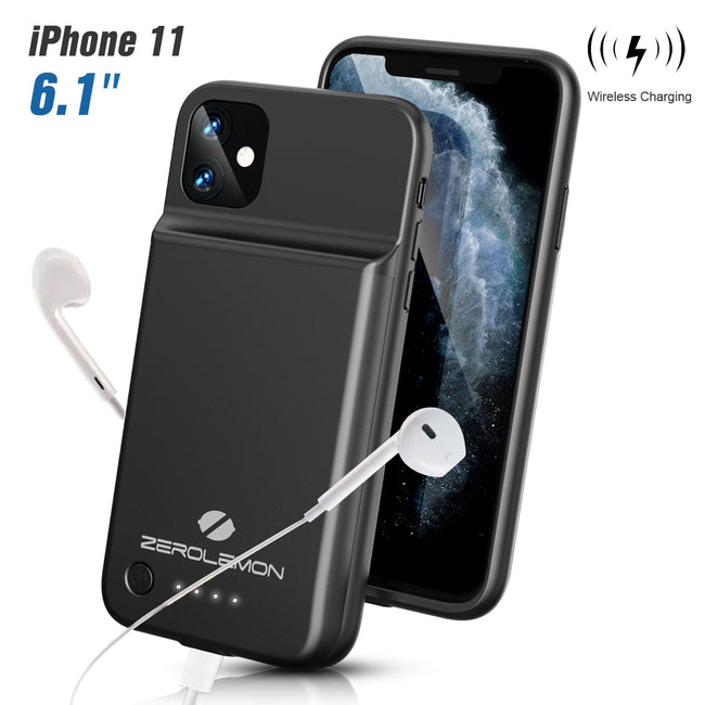 "SlimJuicer iPhone 11 4500mAh Wireless Charging Battery Case(For iPhone 11 6.1"" 2019)"