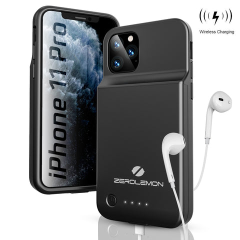 iPhone 11 Pro Max SlimJuicer Wireless Charging Battery Case 5000mAh