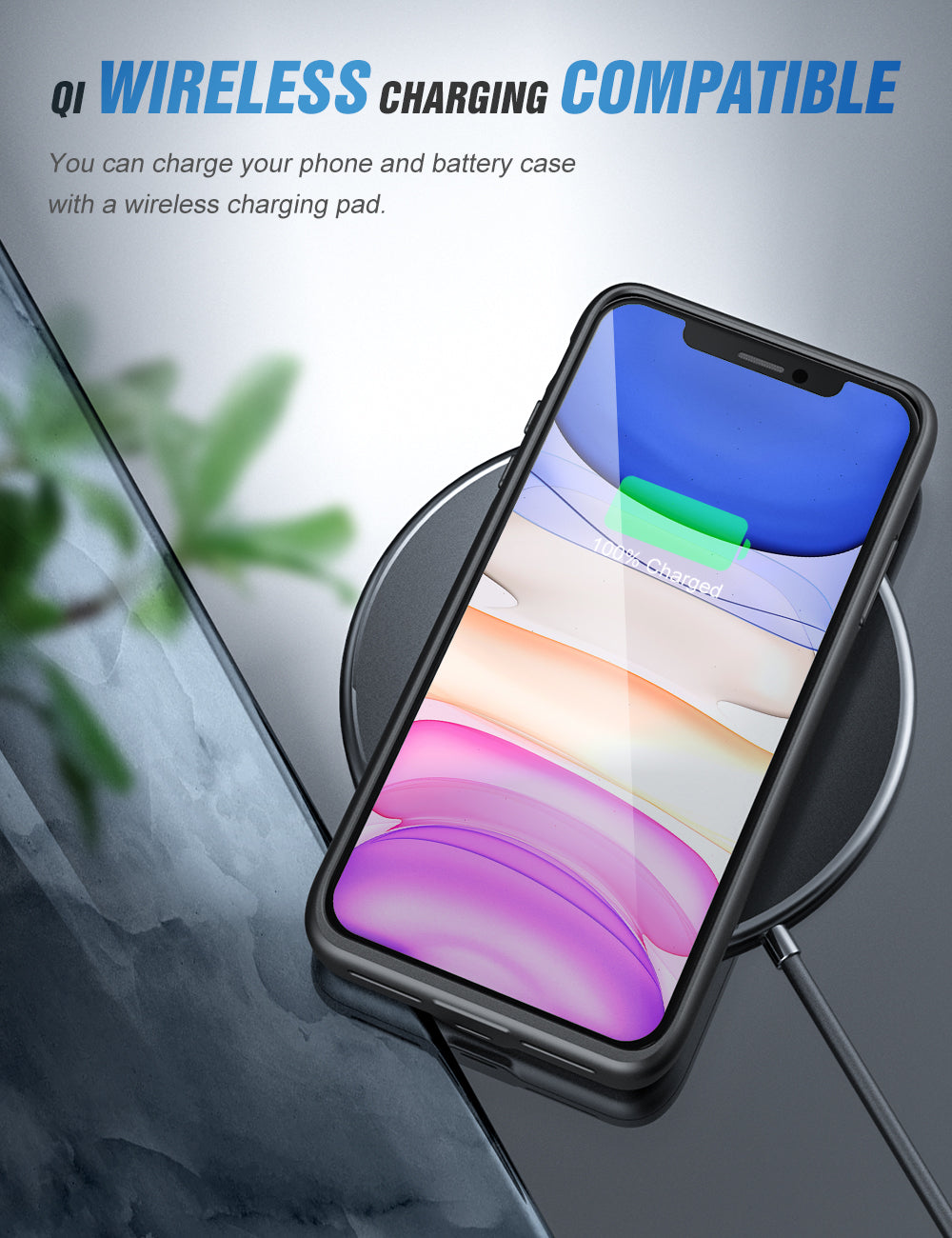 SlimJuicer iPhone 11 Pro Max 5000mAh Wireless Charging Battery Case
