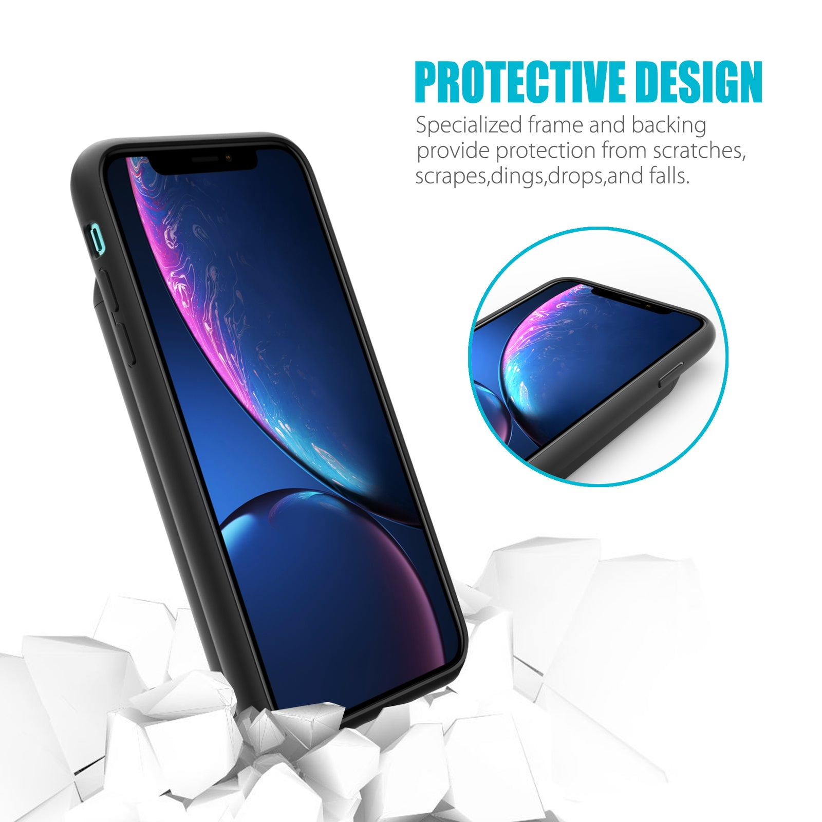 iPhone XR 6.1'' Battery Case 5000mAh