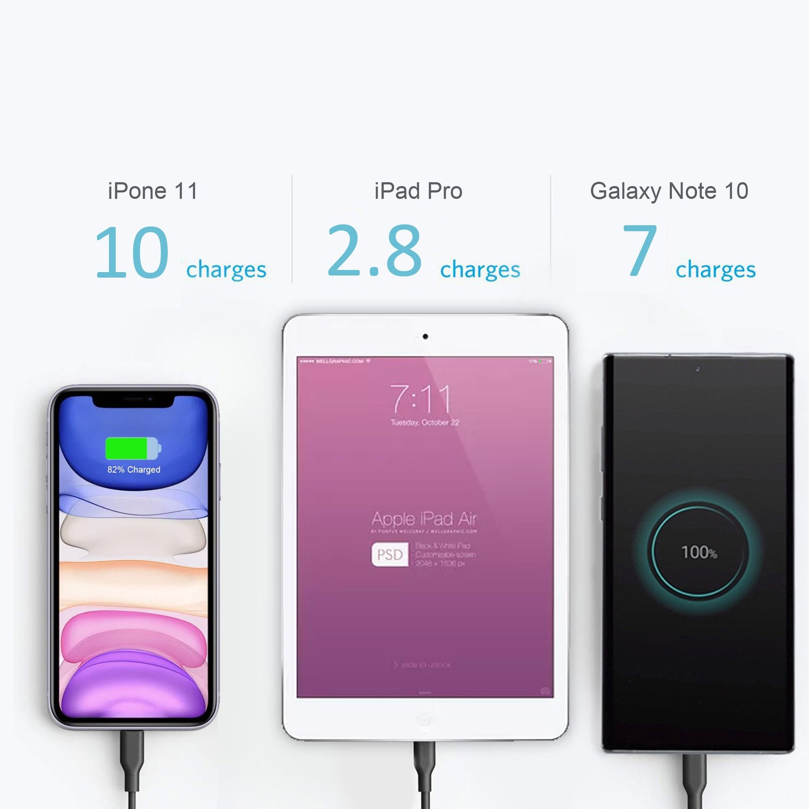 26800mAh USB C PD Wireless External Battery