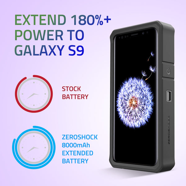 newest 81f69 31cfe Samsung Galaxy S9 Battery Case 8000mAh