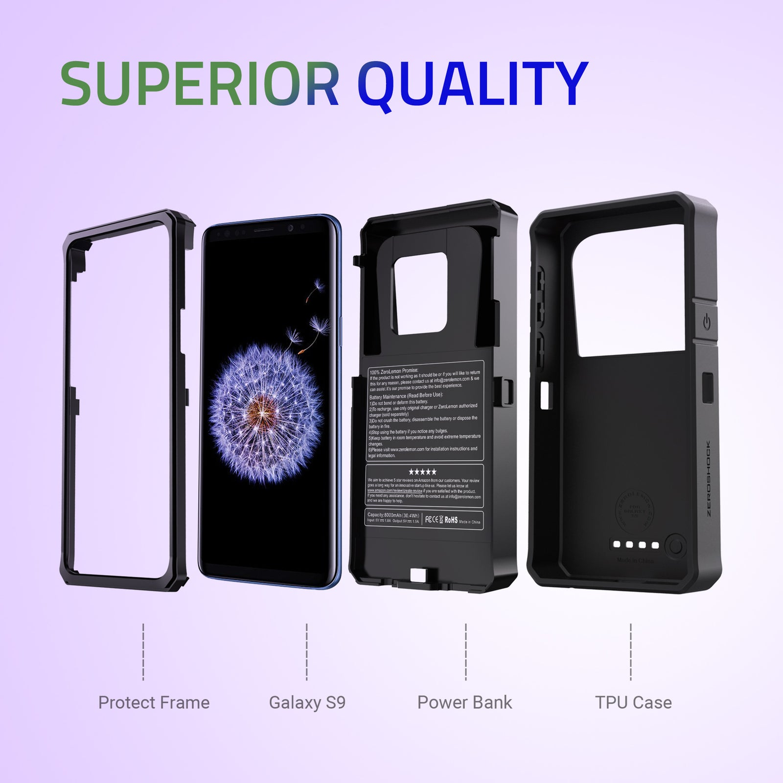 Samsung Galaxy S9 Battery Case 8000mAh