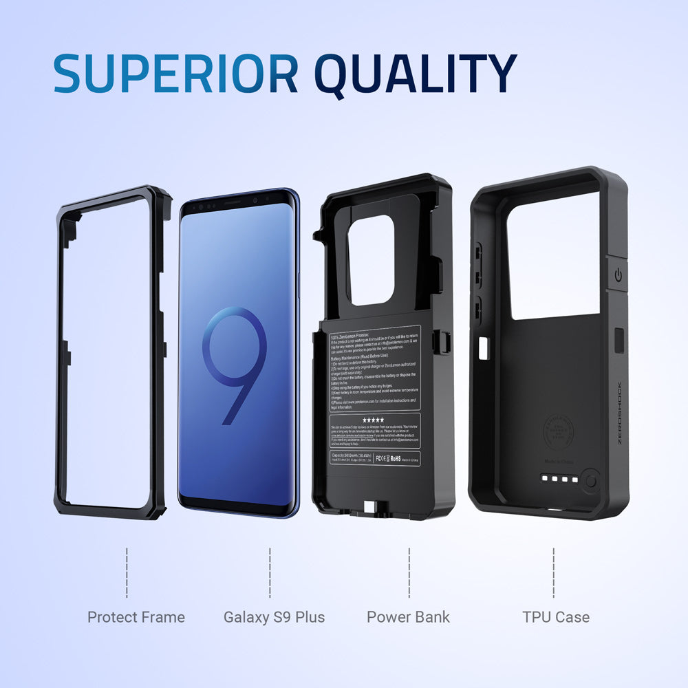 Samsung Galaxy S9 Plus Battery Case 8000mAh