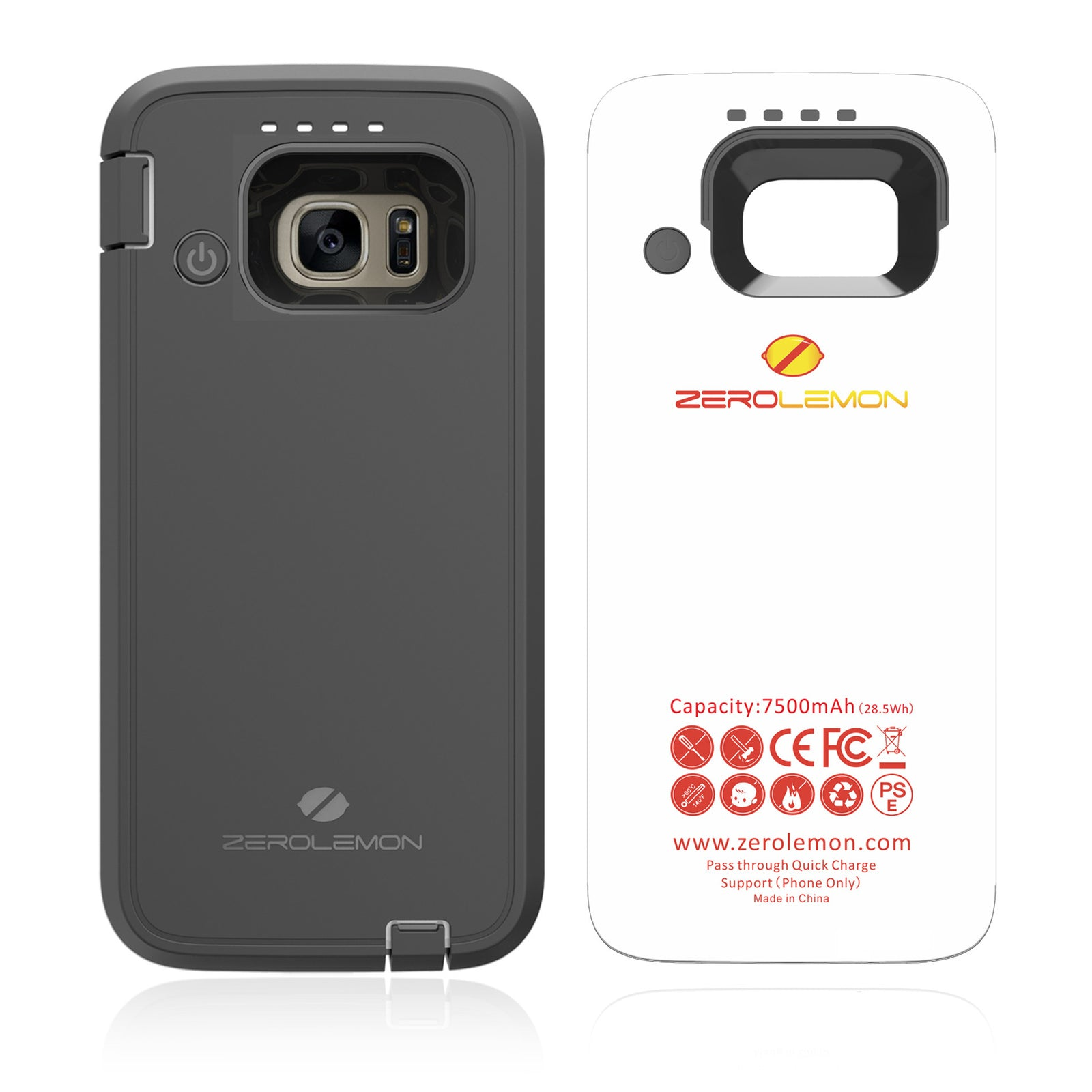 new arrival eafed c101a Galaxy S7 Battery Case 7500mAh– ZEROLEMON