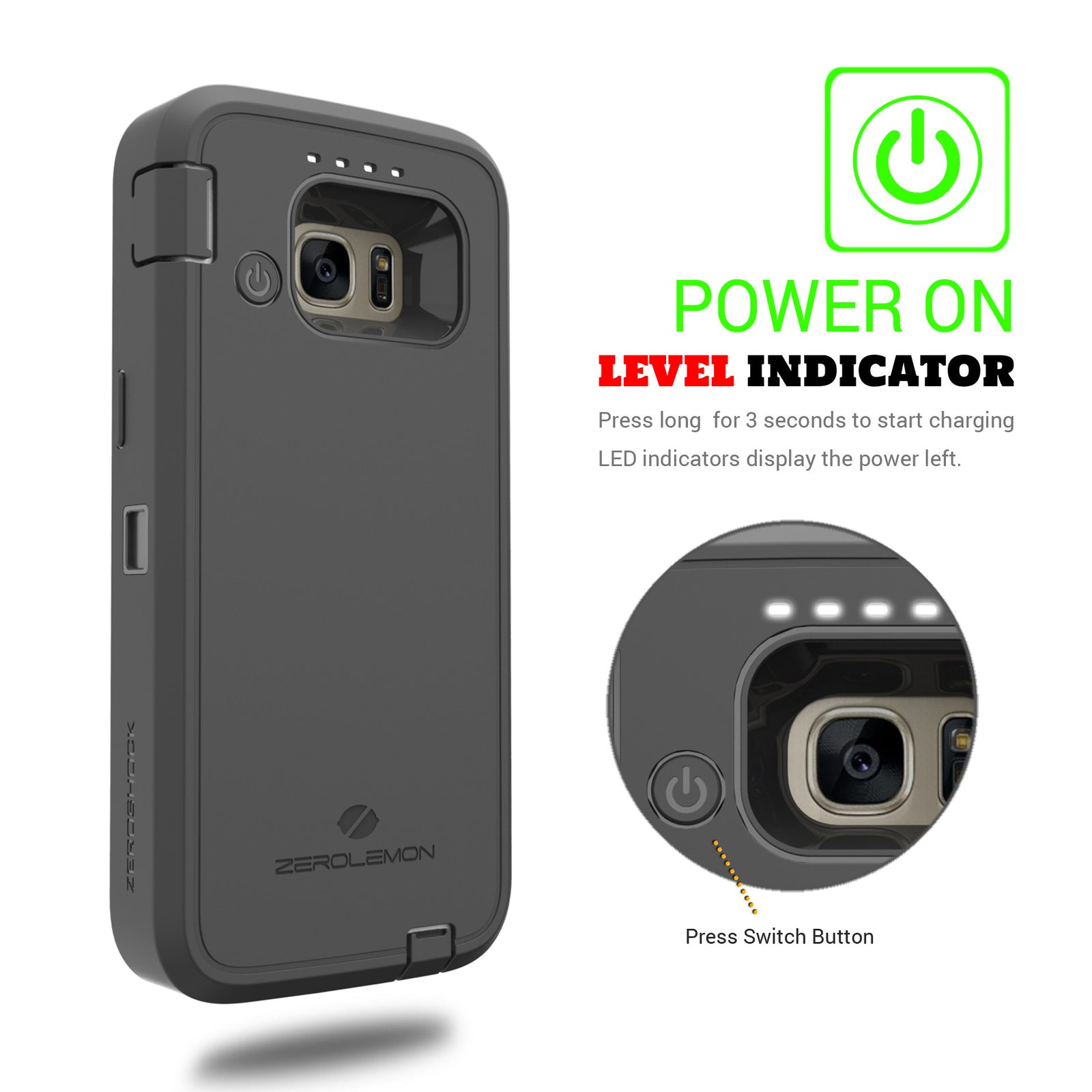 Galaxy S7 Battery Case 7500mAh