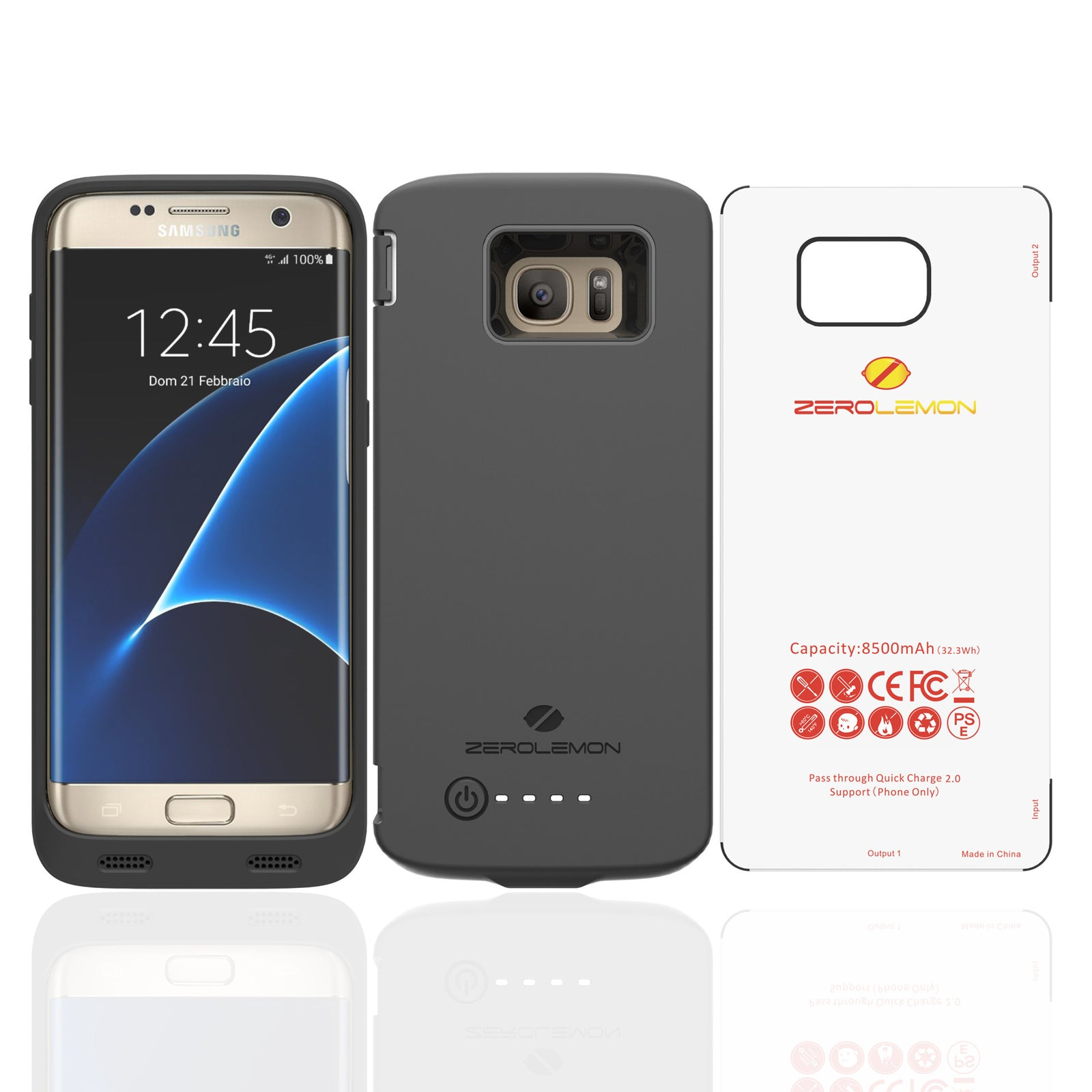 the best attitude 1e52a 6892a Galaxy S7 Edge Battery Case 8500mAh– ZEROLEMON