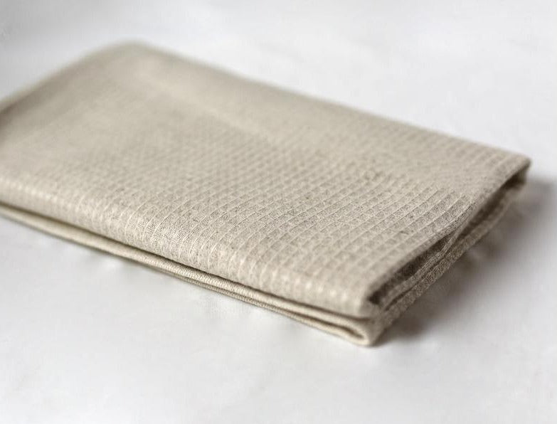 Organic Linen Flax & Cotton Tea Towel