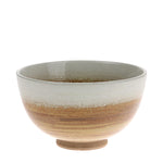 deep white & rust glazed bowl
