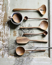 Load image into Gallery viewer, Round Teak Scoop Spoon