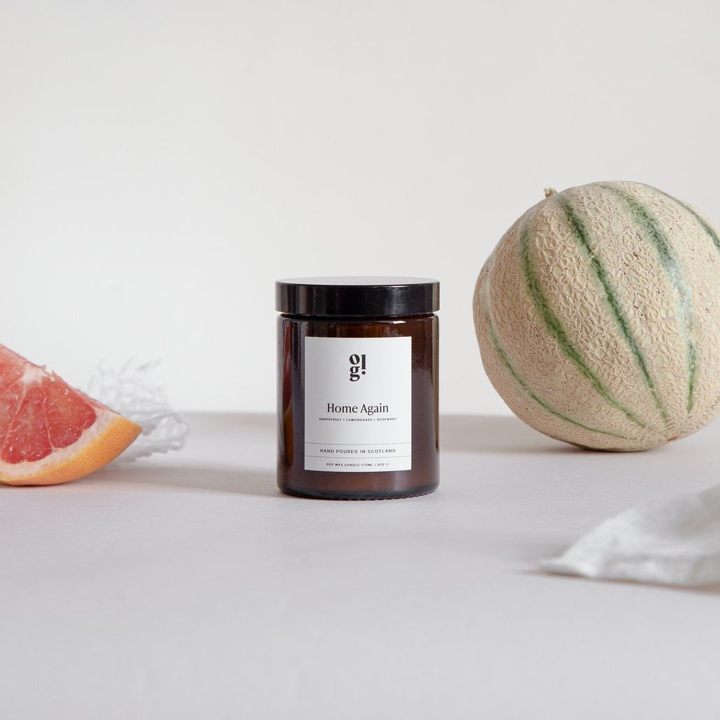 Grapefruit, Rosemary & Lemongrass Scented Candle