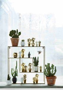 Square Brass Etagere Shelving