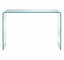 Load image into Gallery viewer, Curved Tempered Glass Console Table