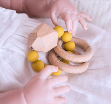 Load image into Gallery viewer, Gem Wooden & Silicone Teething Ring