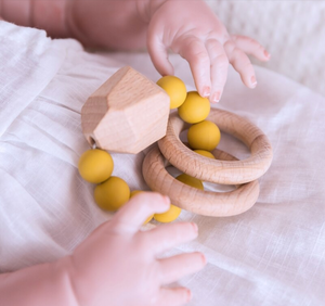 Gem Wooden & Silicone Teething Ring