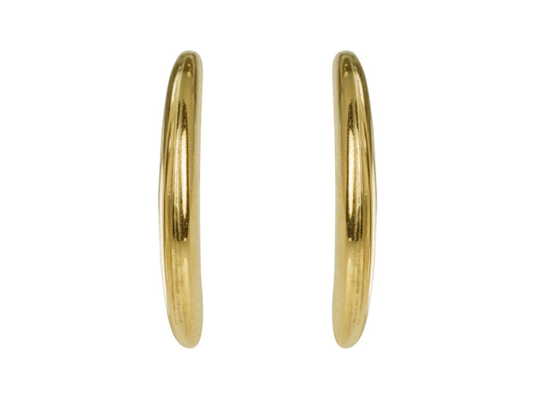 9ct solid gold crescent moon hoop earrings