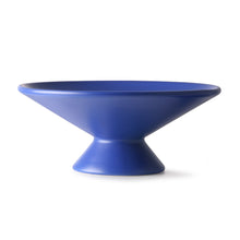 Load image into Gallery viewer, Blue Ceramic Bowl with Raised Angular Base