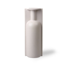 Load image into Gallery viewer, hkliving hk living matte light putty coloured finish to this trompe l'oeil vase in the form of a vase mold tall single stem