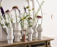 Load image into Gallery viewer, Handmade Speckled White Clay Vase