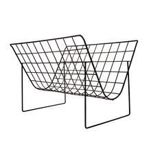 Load image into Gallery viewer, Matte Black Wire Magazine Rack