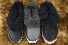 Load image into Gallery viewer, Mens Handmade Embroidered Sheepskin Slippers
