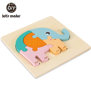 Coloured Wooden Geometric Shapes Puzzle