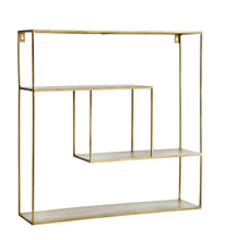 Load image into Gallery viewer, Square Brass Etagere Shelving